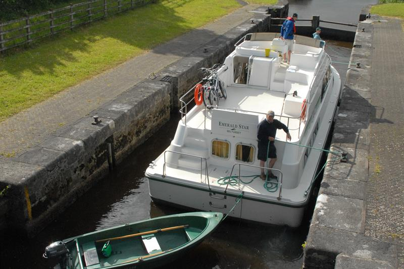 boat in lock on the Shannon-Erne Waterway