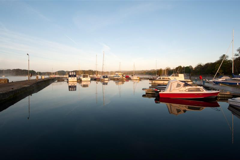 Image of Boats moored on the Shannon