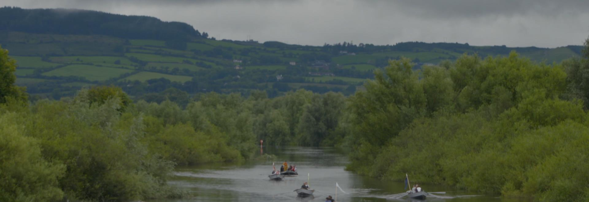 Rowing on the River Shannon