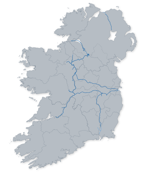 Map Of Ireland Showing Athlone.Waterways Ireland Home